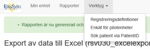 Export till Excel small